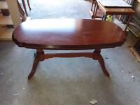 Assorted coffee and causal Tables, Set of Chairs and Bookcase