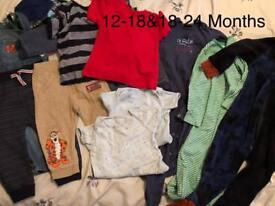 Boys 12-18 & 18-24months clothes