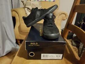 Ralph Lauren canvas trainers size 9 comes with original boxed