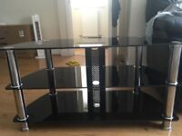 6 months black glass cabinet table TV ...