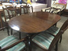 Mahogany Table & 6 Chairs