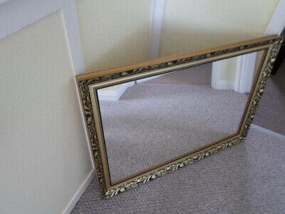 Antique Vintage style ornate gold gilt mirror 86cm x 60.5cm