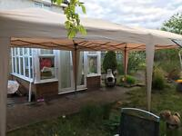 6metre by 3metre gazebo with doors and side panels