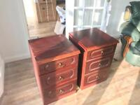 PAIR OF VINTAGE BED SIDE TABLES