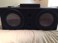 """Twin 12"""" Alpine Subwoofer's with Pioneer Amp 1000w RMS & Custom Ported Box"""