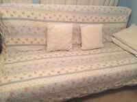 Ikea futon double bed with mattress n mattress protector n underneath drawer only 70