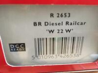 Hornby R2653 Green Diesel GWR railcar, DCC ready,model railway 00 gauge