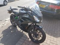 REDUCED 15 plate Kawasaki ER-6F 2 year WARRANTY only 1000 miles