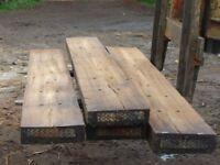 Halved Oak railway sleepers.2.6 metre 70x 225mm £24 each