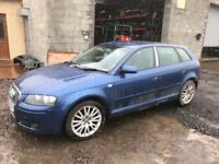 Audi A3 2005 Year Diesel Spare Parts Available