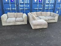 Bargain Corner Italian Sofas & Matching 2 Seater V.G.C. Free Delivery In Norwich