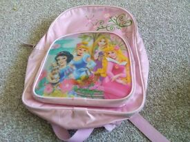 Disney Princess 2 item bundle Holographic rucksack with sandals