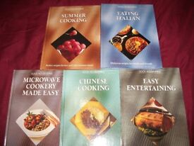 BRAND NEW COOKERY BOOKS, ( 5 ) UNWANTED GIFT,