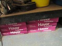 6 X BOXES OF TRAVERTINE TILES, EACH APROX .9 METRE, IVORY/CREAM/COFFEE