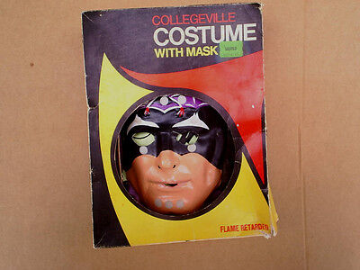 THE BAT HALLOWEEN COSTUME W/BOX Collegeville,Vintage,Rare,med.(8-10 yr),mask,old