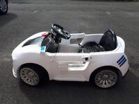 Children's electric sports car - white