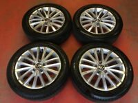 17'' GENUINE VW JETTA SPORT ALLOY WHEELS TYRES ALLOYS 5X112 CADDY GOLF TOURAN SHARAN PASSAT