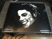 Dell Latitude D610 Laptop with Michael Jackson Image on lid