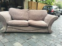 2 seater sofa bed and 3 seater sofa