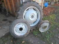 Used Tractor wheels and Tyres used Dexta Nose Cone