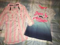 2 ladies genuine Superdry tops shirt. New. Small