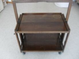Old (possibly vintage) dark wood trolley