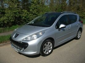PEUGEOT 207 SW ESTATE 1598cc FULL LEATHER INTERIOR