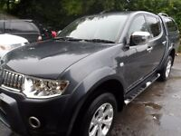 2010 MITSUBISHI L200 WARRIOR , MANUAL ,GREY , LEATHER, 3M WARRANTY, SERVICED , FREE UK DELIVERY