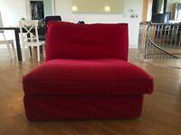 Red Single Fabric Sofa