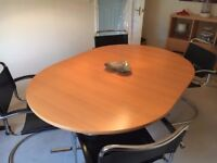 Beech Extendable Dining Table and 4 director chairs