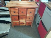 Solid wooden 9 drawer .. drawers have swelled a little .. still close .. great for upcycle project