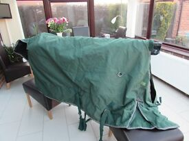 HORSE TURNOUT RUG. GREEN. THIS IS A 6 FOOT RUG, IN GOOD CONDITION,