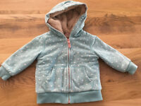 6 - 12 Months Baby Girl Boden Shaggy Lined Zip-Through Hoodie