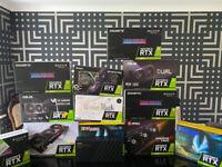BRAND NEW NVIDIA RTX 3060ti 3070 3080 3090 MSI, GIGABYTE,ASUS & AMD 6800 XT