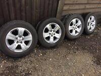 "Set of 4 17"" Vauxhall antara alloy wheels with tyres"