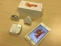 Rose Gold Apple iPhone 6S 64GB Factory Unlocked Mobile Phone + Warranty