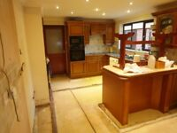 Free Hardwood Kitchen Units from Large Kitchen