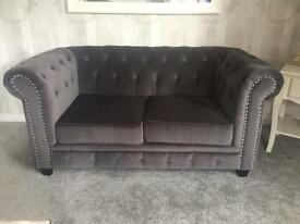 2 Seater Chesterfield Sofa - Grey