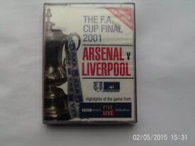 Arsenal V Liverpool FA cup Final 2001 Audio Cassette