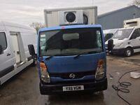 nissan cabstar box fridge van.twin rear wheel.3.5 t.one owner.73k.new mot.full history
