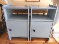 Pair of blue bedside tables