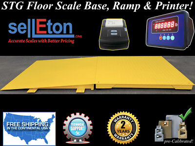 60 X 60 Floor Scale With Ramp 5000 Lbs X 1 Lb Printer Industrial Pallet
