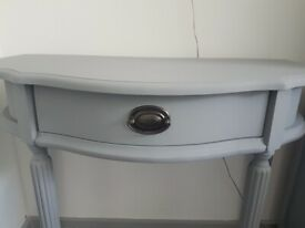 Stunning grey hallway console side table