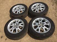 """Alfa Romeo 147 / 156 15"""" alloy wheels and nearly new tyres"""