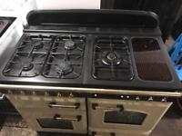 Cream rangemaster classic 110 gas cooker and electric oven 110cm