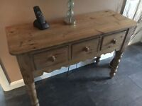 Pine Console or Hall Table