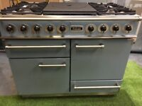 Stunning Falcon 1092 Range cooker Double Oven Roller Grill blue and stainless