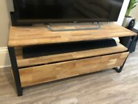 TV stand. Metal frame with Wooden panels