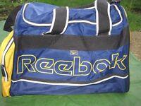 Blue and Yellow Nylon Reebok Sports Bag