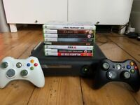 Xbox 360, 2 wireless controllers, and 10 games!!